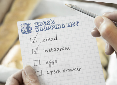 Facebook shopping list