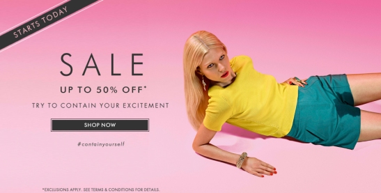 Harvey Nichols - try to contain your excitement