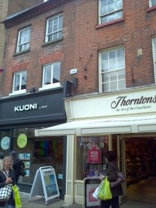Kuoni Travel agents and Thorntons Chocolates in Chichester