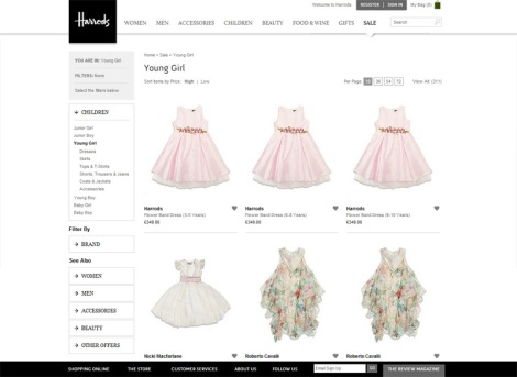 Harrods website ditches the company green and gold