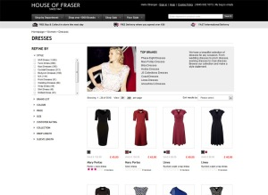 House of Fraser online shopping website