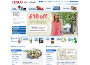 Tesco main website