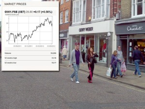 Gerry Weber store Chichester with company share price showing improvement
