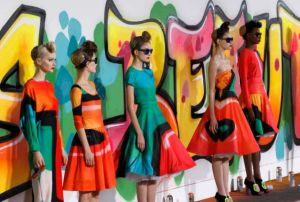 Graffiti inspired prints by Manish Arora - creative director for Paco Rabanne
