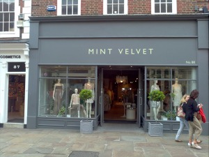 Relative newcomer Mint Velvet have a great store in Chichester and are also expanding in other wealthy towns like Guildford