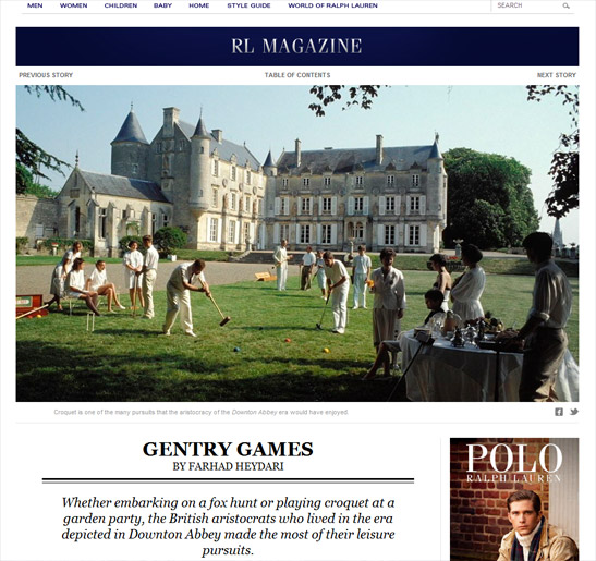 Ralph Lauren website - is croquet the next big thing