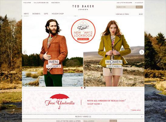 Ted Baker UK website