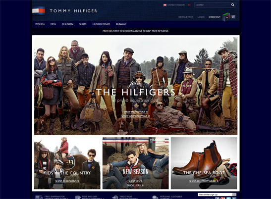 Tommy Hilfiger UK website