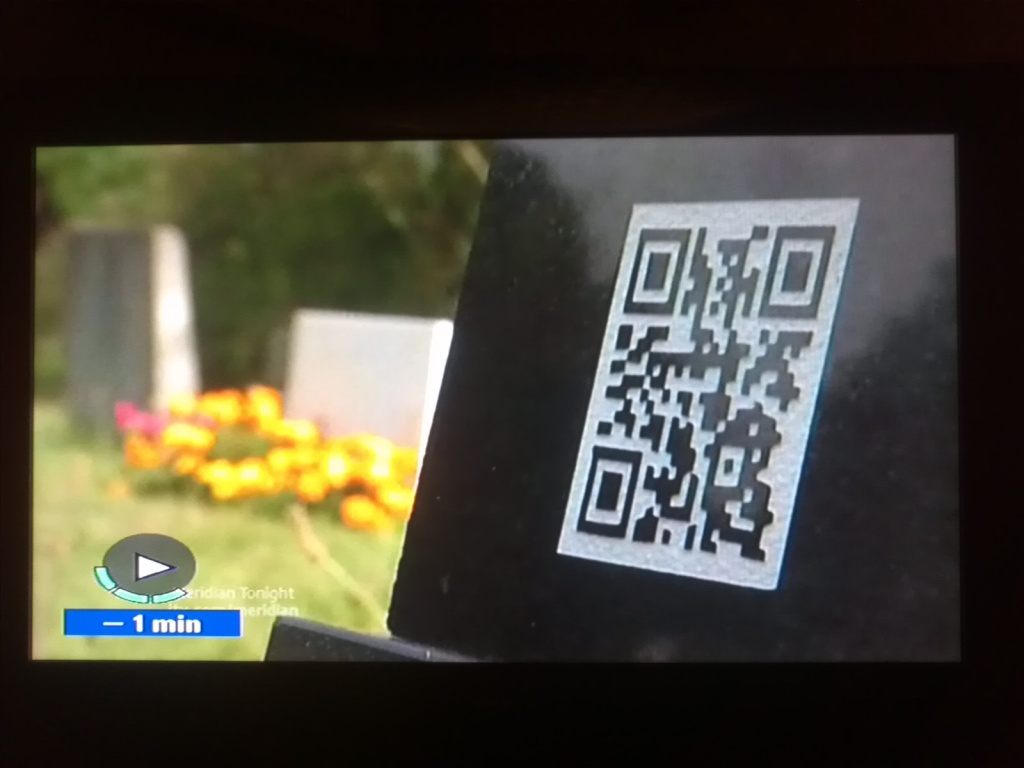 QR tags on gravestones